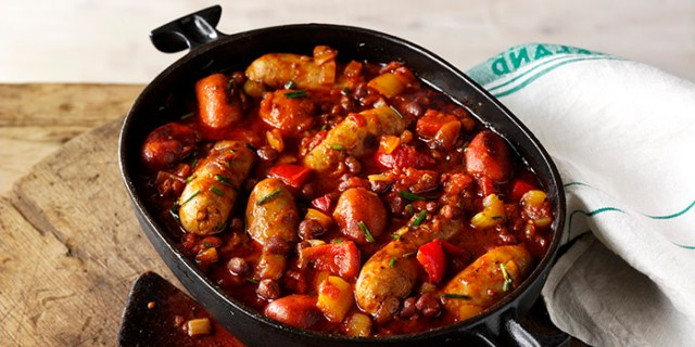 Sausage stew with butter beans