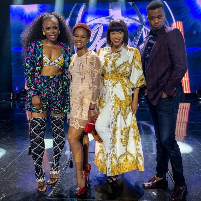 Unathi thanks Mzansi celebs for spending time with her on #IdolsSA