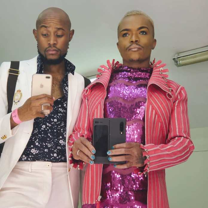 Somizi threatens to kill Mohale with a kitchen knife