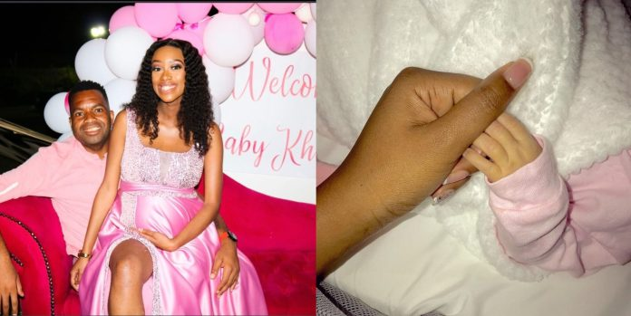 Itumeleng Khune's new-born Baby received her first beautiful Valentines Gift – Picture