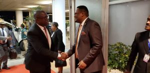 Foreign Affairs Minister Malanji at the AU Summit
