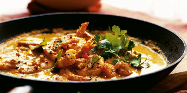 Kerala king prawn and coconut curry