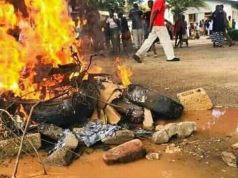 mob burning a patient at Mazabuka hospital