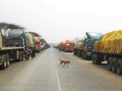 Trucks at Kazungula Border Post