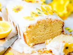Vegan lemon drizzle cake