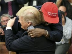 """Kanye West is """"taking the red hat off"""""""