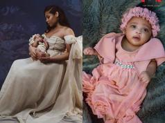 Usain Bolt's girlfriend birthday shoot with adorable daughter Olympia