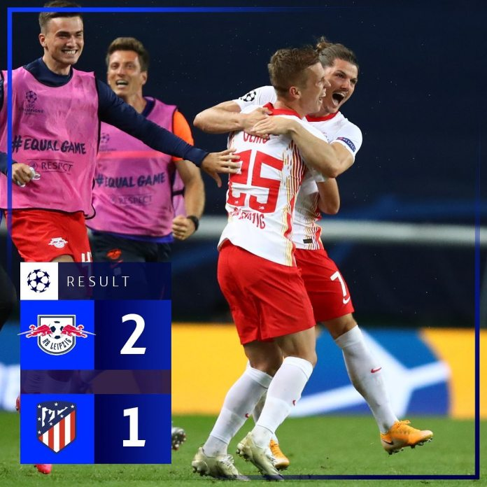 RB Leipzig beat Atletico Madrid to reach their first ever Champions League semi-finals