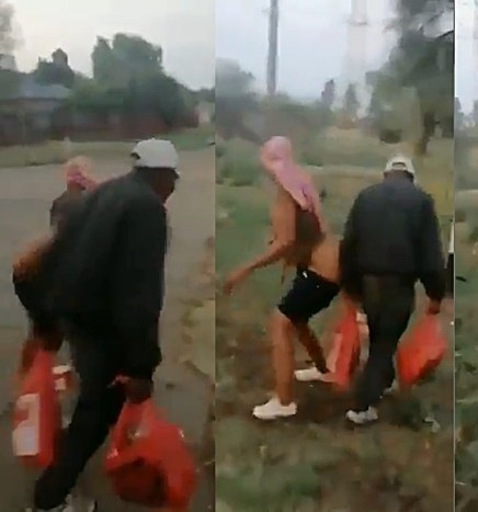 Watch: Woman s.e.xually abuses old man, bend over him while n@ked: