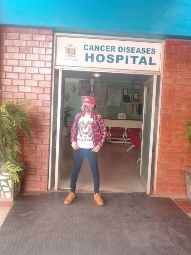 William Kachigamba is in Zambia for cancer treatment