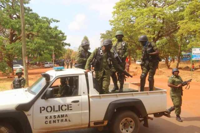 Heavy armed Police Officers Block Roads Leading To Kasama Magistrate Court
