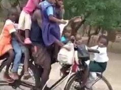 Man Arrested For Carrying 9 Children On Bicycle - Video