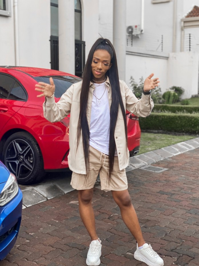 Lasizwe shades haters as he shows off his long wig