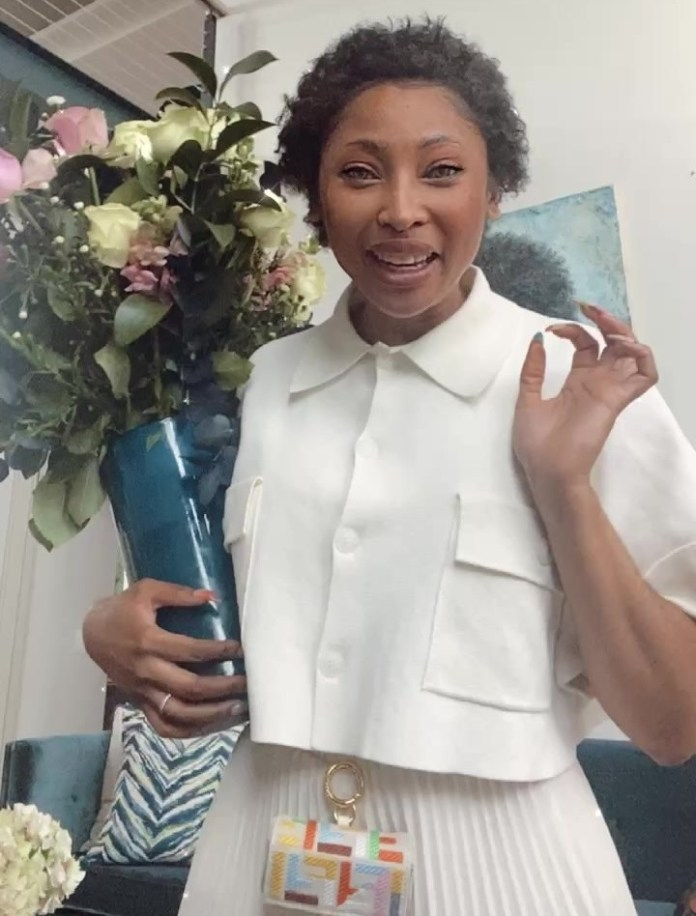 Enhle Mbali's luxurious white Porsche at her all-white Birthday party – Pictures
