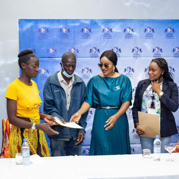 You can't keep a good woman down – Mutale Mwanza hands out scholarships to University students – Photos