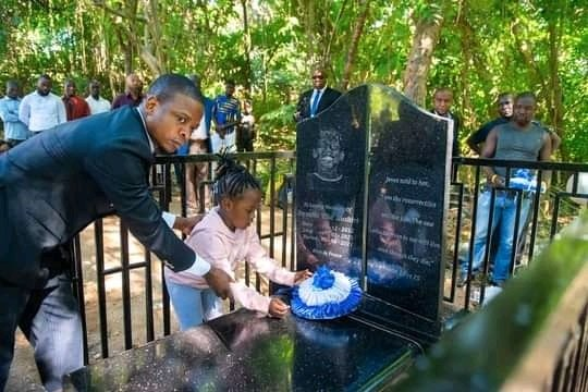 PICS: Prophet Bushiri and family visit Israella's grave after her burial