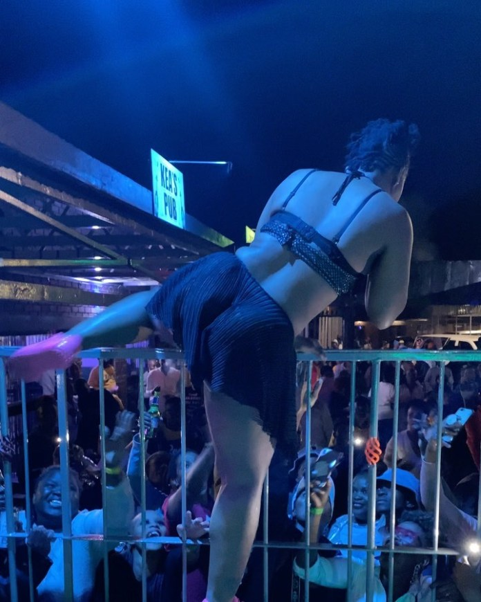 Watch – Excited fans touch Zodwa Wabantu's privates