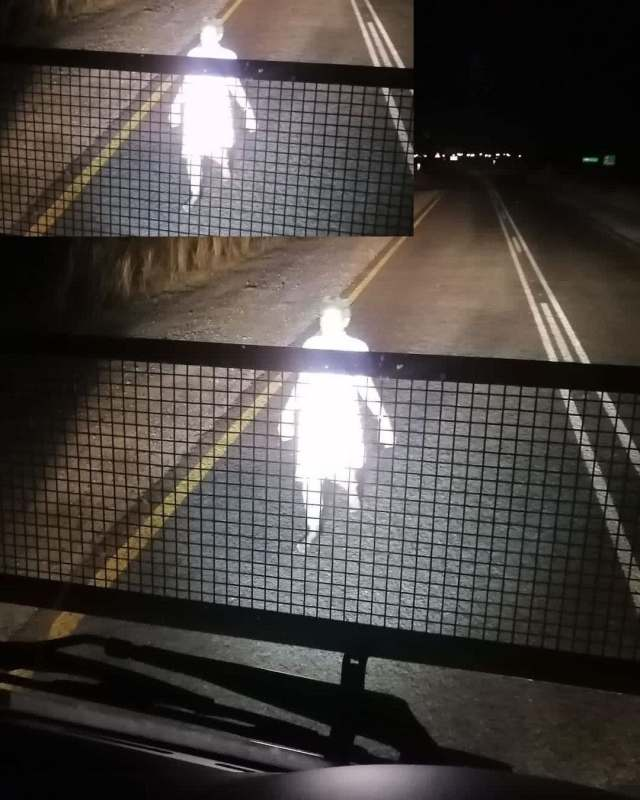 Truck driver pees in his pants after running over a ghost