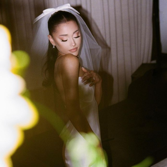 Ariana Grande shares her wedding pictures