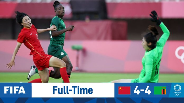 Barbra Banda scores another hattrick as Zambia drew with China