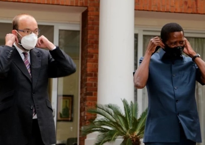 UK's Minister of State for Africa arrives for KK State Funeral