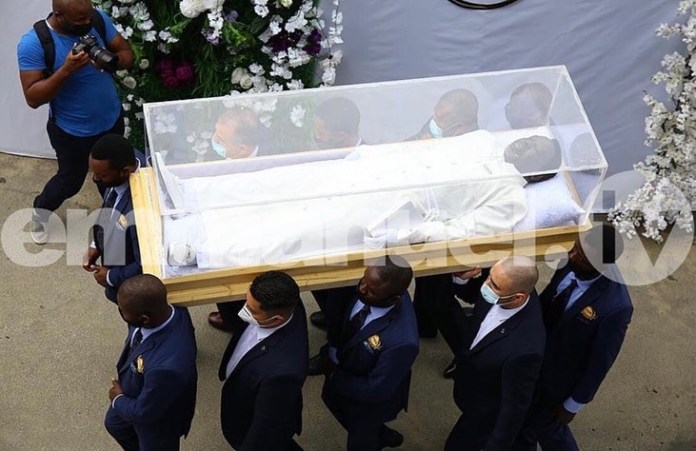 Prophet TB Joshua's body arrive at Synagogue Church of All Nations for burial