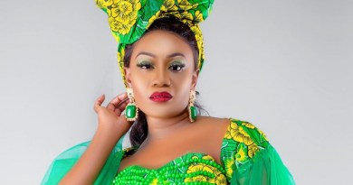"""Mutale Mwanza flaunts her new style, which she called """"The Green with Envy Collection."""""""