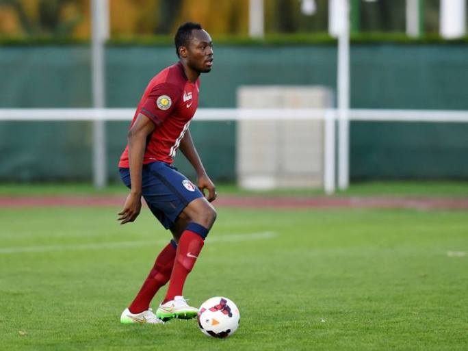 Sunzu in action for Lille reserves on Monday evening
