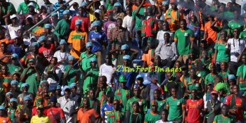 Chipolopolo fans v G Bissau