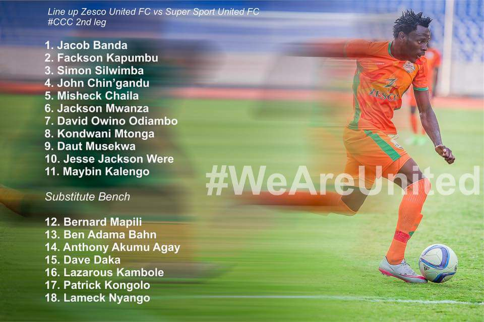 CAFCC: Zesco United 2 - 2 SuperSport (As it happened)
