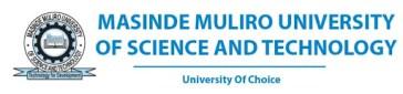 MASINDE MULIRO UNIVERSITY OF TECHNOLOGY ADMISSION REQUIREMENTS 2021/2022