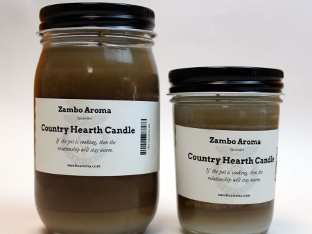 country hearth candle