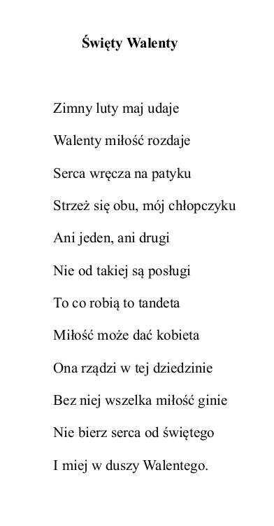 Wiersze Zbigniewa Teofila Jacha 7 Z Okazji Dnia