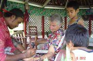 Ta'ua the Tatooist with Cedric, Levi & Peter Samoa 2012