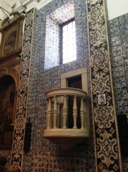 Evora Convent - tile wall and balcony
