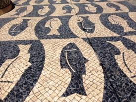 Tile pathway in Faro Portugal
