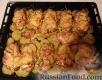 عکس به دستور غذا: گوشت فرانسوی با سیب زمینی پخته شده
