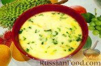 عکس به دستور غذا: سوپ مرغ با پنیر ذوب شده