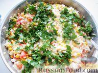 عکس به دستور غذا: برنج با ذرت و گوجه فرنگی