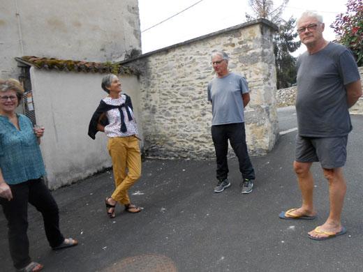 Pause avec Laurence, Roseline, Patrick et Remi
