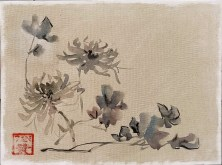 Peony Huang Shen Study - 9x12 acrylic and ink - Zan Savage