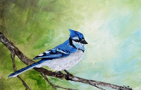 Acrylic Blue Jay