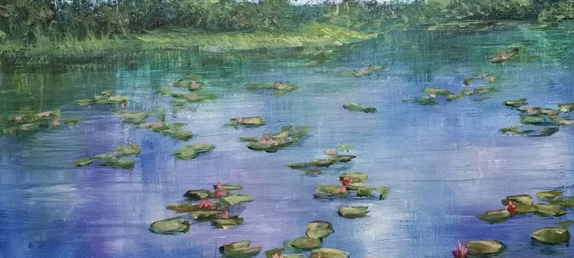 Acrylic Waterlilies
