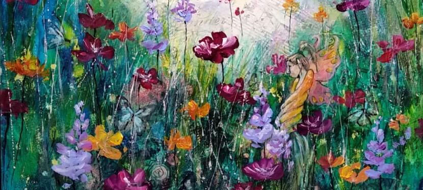 Mixed Media Floral Fantasy
