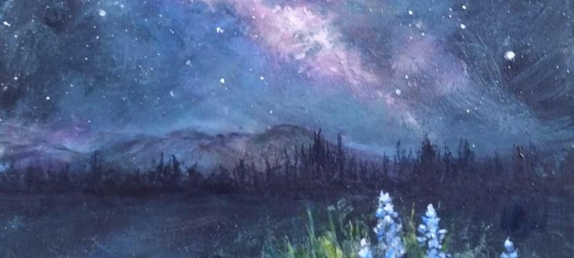 Acrylic Celestial Meadow