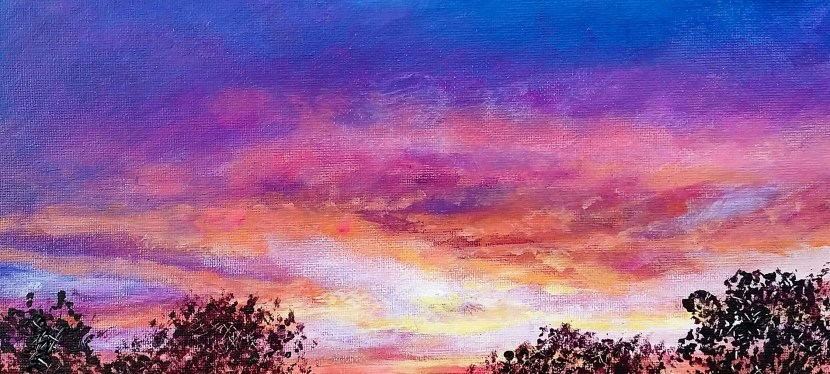 Acrylic San Angelo Sunset