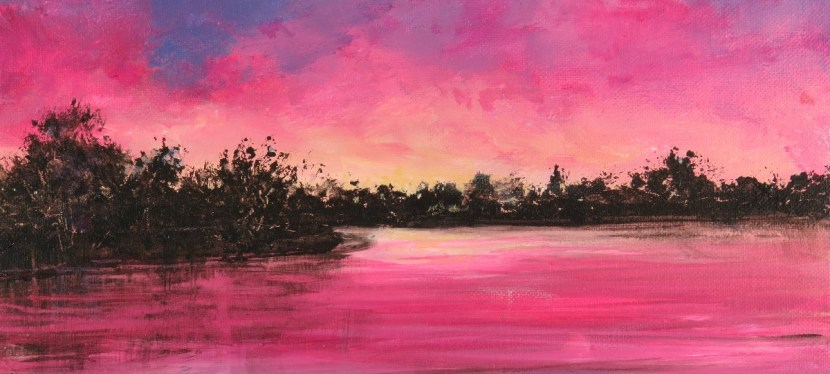 Acrylic Lake Murray Sunset