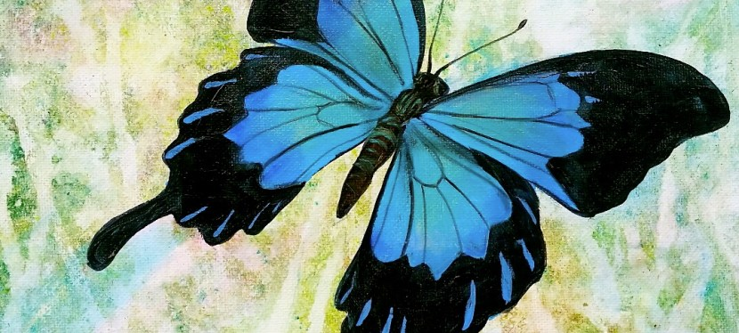 Acrylic Blue Butterfly