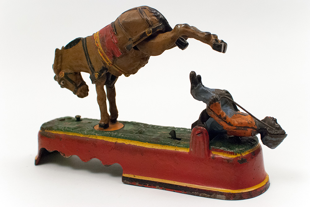 Antique I Always Did Spise A Mule Mechanical Bank Boy On
