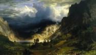 """Storm in the Rocky Mountains"", Mount Rosalie/Evans;  By Albert Bierstadt, 1886"